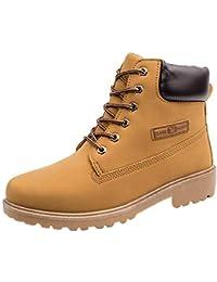Zapatos Hombre,Hombres Botas de Tobillo Piel Forrada Invierno otoño Caliente Martin Botas Zapatos