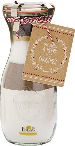 Backmischung im Weck Glas HAVE YOURSELF A MERRY LITTLE CHRISTMAS (Zimt Plätzchen / 390 g) MIT REZEPTANHÄNGER
