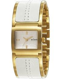 Axcent of Scandinavia Axcent of Scandinavia - Reloj analógico de cuarzo para mujer con correa de acero inoxidable, color blanco