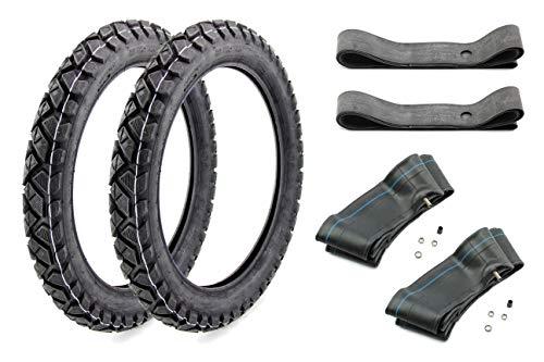SET: 2x Enduro Reifen VRM 185-2,75-16 - 2x Schlauch - 2x Felgenband für Simson