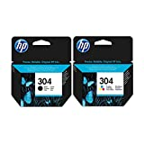 2 x Black & Tri-Colour HP Ink Cartridge - for HP Deskjet 3730 Printers - Original Ink Cartridge