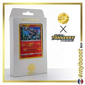 Heatran 48/214 Holo Reverse - #myboost X Soleil & Lune 8 Tonnerre Perdu - Box de 10 Cartas Pokémon Francés