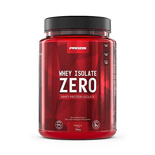 Prozis Zero Whey Isolate 750 g Vanille - Gewichtsverlust, Muskelerhalt und Bodybuilding - Kohlenhydratarm -