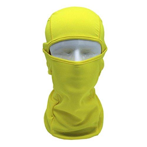Reiten Winddicht Maske erthome Gesichtshaube Motorrad Radfahren Jagd Outdoor Ski Full Face Maske Helm (Gelb) -