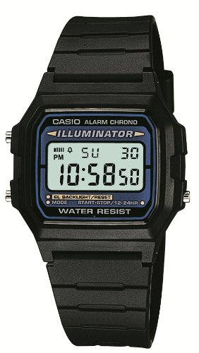 Casio Collection – Herren-Armbanduhr mit Digital-Display und Resin-Armband – F-105W-1AWYEF