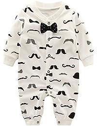 Vine Pyjama Bébé Fille Garçon Grenouillère Combinaisons en Coton Bouton à Manches Longues Chaud Pyjama Déguisement