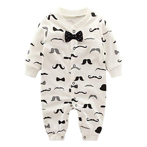 Vine Pyjama Bébé Fille Garçon Grenouillère Combinaisons en Coton Bouton à Manches Longues Chaud Pyjama Déguisement 3-6 Mois