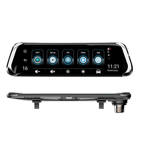 ATpart Dashcam Autokamera Fahrschreiber Wireless Doppelobjektiv HD Rückspiegel Navigation Intelligenter Wolkenspiegel Auto DVR Kamera Dash Camera Recorder
