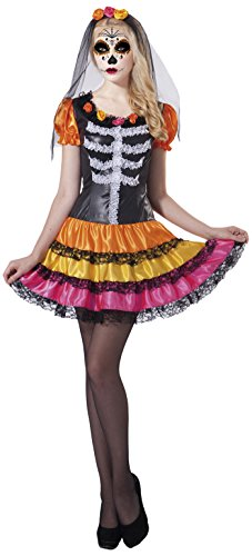 Imagen de my other me  disfraz catrina esqueleto para mujer, m l viving costumes 203219