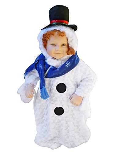 Seruna F61/00 Gr. 62-68 Schneemann Kostüm für Fasching und Karneval, Kostüme für Baby Babies Kleinkinder, Faschingskostüm, Karnevalkostüm