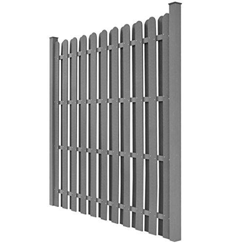 vidaXL WPC Gartenzaun Sichtschutzzaun Windschutzzaun Pfostenträger quadratisch