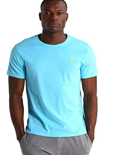 Ralph Lauren Herren T-Shirt Custom Fit (L, Türkis) -