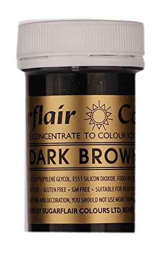 Flüssigen Paste (Sugarflair Spectral Paste Edible Food Colouring Colour Icing 25G - Dark Brown)