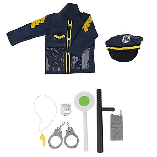 F Fityle 8stk. Polizei Spielzeug Kinderspielzeug Cosplay Zubehör für Kinder ()