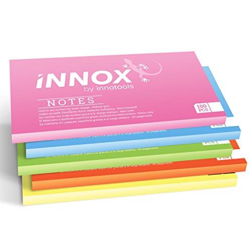 (Elektrostatisch selbstklebende Haftnotiz klein | Für alle Oberflächen - Innovative Sticky Notes ohne Klebstoff von INNOX | Ideen visualisieren, verschieben, strukturieren | Bunt, 10x7cm, 500 Blatt)