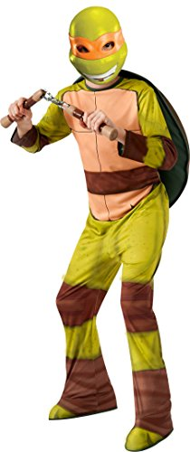 Michelangelo Kostüm - Rubie's TMNT Teenage Mutant Ninja Michelangelo Kostüm für Kinder (128/134)