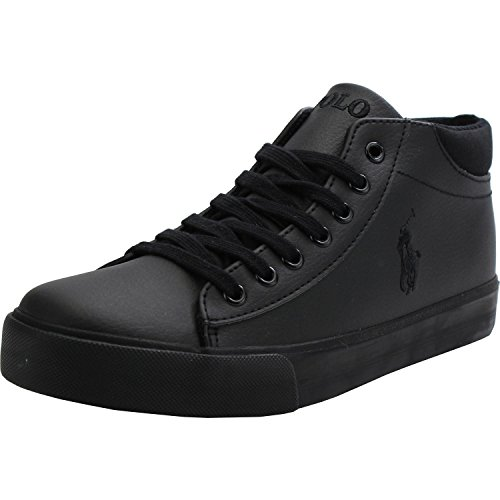 Polo-Ralph-Lauren-Harrison-Mid-Youth-Triple-Black-Synthetic-School-Shoes