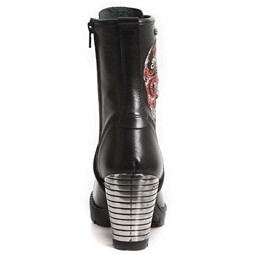 New Rock M Tr048 S3, Damen Stiefel Red Black