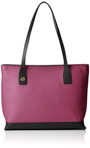 Piquadro Shopping Bag Collezione Antilias Borsa a spalla, Pelle, Prugna, 30 cm