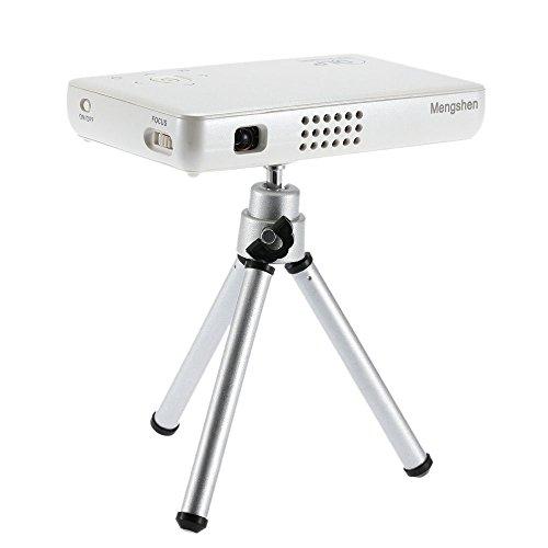 Mengshen® Mini Beamer DLP Wiederaufladbar HD 1080P Projektor Cinema GP1SWhite