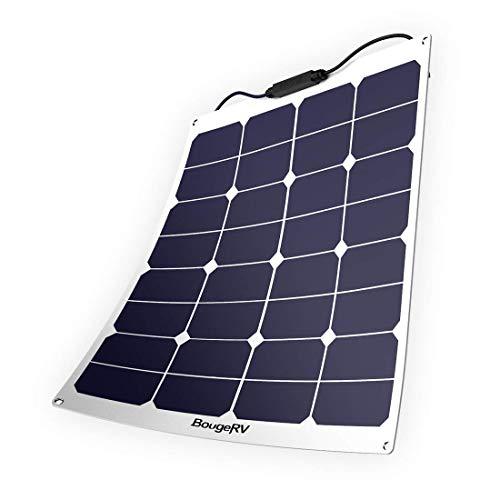 BougeRV Solarmodul, 50 W, 18 V, 12 V, flexibles Solarlademodul mit MC4 für Wohnmobil, Boot, Kabine, Zelt, Auto, Anhänger etc. -
