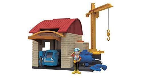 Simba Dickie 203133010Bob el Constructor garajes Juego, 10x 12cm