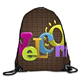 uykjuykj Tunnelzug Rucksäcke, Welcome Drawstring Bag for Traveling or Shopping Casual Daypacks School Bags welcome10 Lightweight Unique 17x14 IN