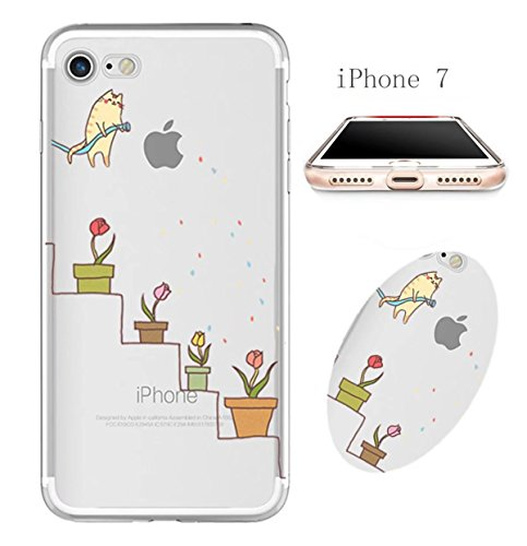 Cover iPhone 6 Plus Custodia telefono creativo trasparente silicone Guscio morbido Anti Graffio Copertura protettiva Anti-polvere paraurti Si applica a iPhone 6/6S Plus(5.5) disegno-14