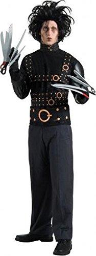 Herren Edward mit den Scherenhänden Rubine Lizenzprodukt Halloween Hirsch NEU Fancy Kleid Kostüm, schwarz, One Size Fits Up To 44