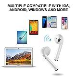 Wireless Earbuds, Silipower Bluetooth Headphones, Wireless Earphones Mini In-Ear Headsets Sports Earphone with 2 True Wireless Earbuds Compatible with All Smartphones