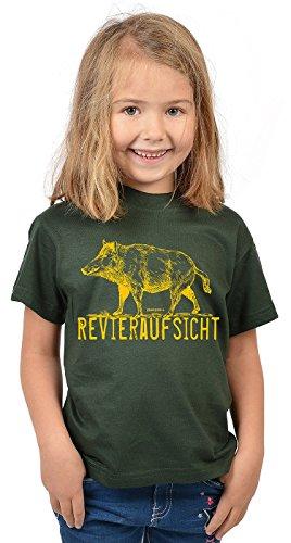 Jäger Sprüche Kinder T-Shirt/Mädchen Jagd Bekleidung Shirt : Revieraufsicht - Kinder Jäger T-Shirt Gr: XL= 158-164