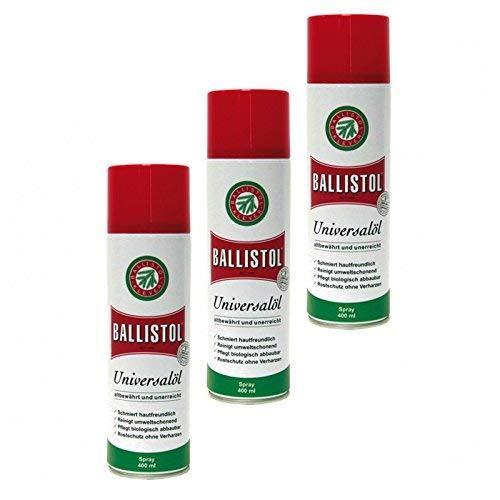 BALLISTOL Spray, 3 Dosen a 400 ml Waffenöl Kriechöl Pflegeöl 21810 -