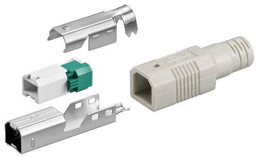 USB B-Stecker zur werkzeugfreien Crimp-Montage; USB PLUG B-Version tool-less assembly