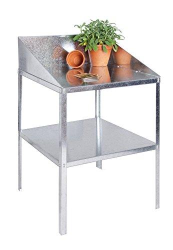 Lacewing Gewächshausregal mit 2 Etagen Workstation-Silber' -