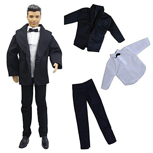 ZITA ELEMENT 3 Piezas Ken Barbie Ropa Conjuntos Oficina