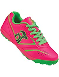 Kookaburra neón zapato calzado de Hockey, Unisex, color rosa y verde, tamaño talla 3