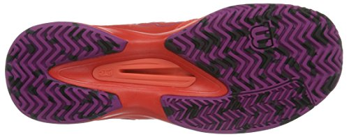 WilsonKaos Comp W Radiant.r/coral Punc/pk - Scarpe da Tennis Donna Multicolore (Radiant Red X166)