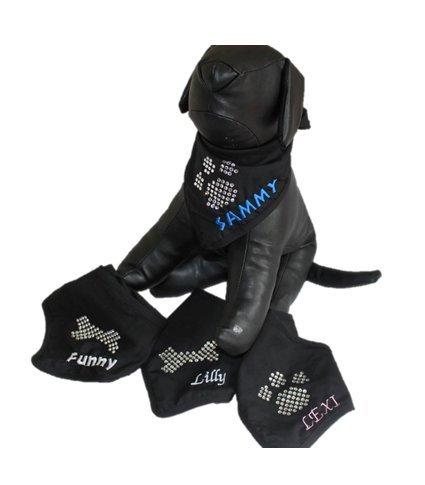 Halstuch für Hunde (mit eigenem Stick!) - Pfotenmotiv