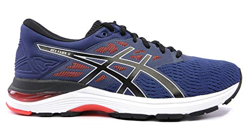 2. ASICS Men's Gel-Flux 5 Deep Ocean and Black Running Shoes