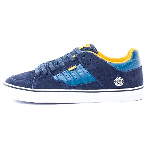Element GLT2 Hommes Skate Trainers Navy Yellow