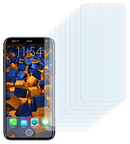 mumbi Schutzfolie kompatibel mit Apple iPhone X Folie, iPhone XS Folie klar, Displayschutzfolie (8X)