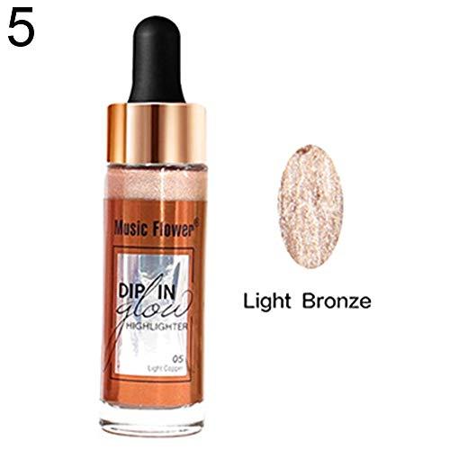 Illuminante Liquido clifcragrocl, 15ml Contagocce Fondotinta Liquido Base Concealer Evidenziare Cosmetici - 5#