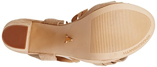 Windsor smith Mythic Suede, Chaussures à Talons à Bout Ouvert Femme Beige (Sand)