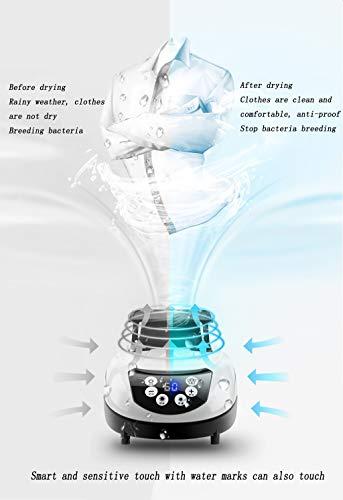DRYER ZLMI Asciugatrice per Uso Domestico Asciugatrice Pieghevole A Doppio Strato Pieghevole Telecomando Intelligente per Sterilizzazione Ioni Negativi 15 kg,Brass