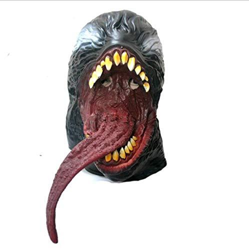 FENGFENGGUO Fengengguo Horror-Maske, Helden-Detox-Maske, Halloween-Horror-Teufelsmaske, Vampir, Spukhaus, Latex-Kopfbedeckung, Film-Requisiten, Make-up-Tanz
