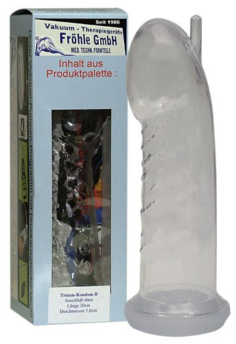 Fröhle Trimm Zylinder des Kondom Typ B 20cm