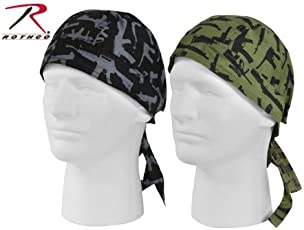 Black Multi-Guns Headwrap