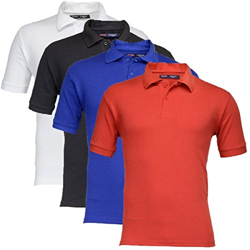 Feed-Up-Mens-Cotton-Polo-Tshirt-Pack-of-4