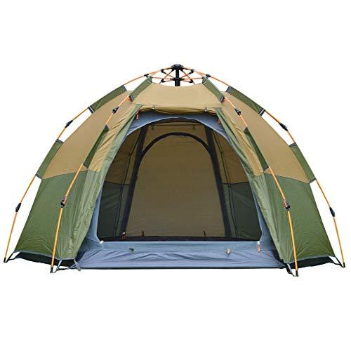 Anchor Pop-up-Zelt, 3-4 Personen Hexagon Dome Familienzelt, automatische 4-Jahreszeiten-tragbare Backpacking-Zelt for Camping, Wandern, Reisen -