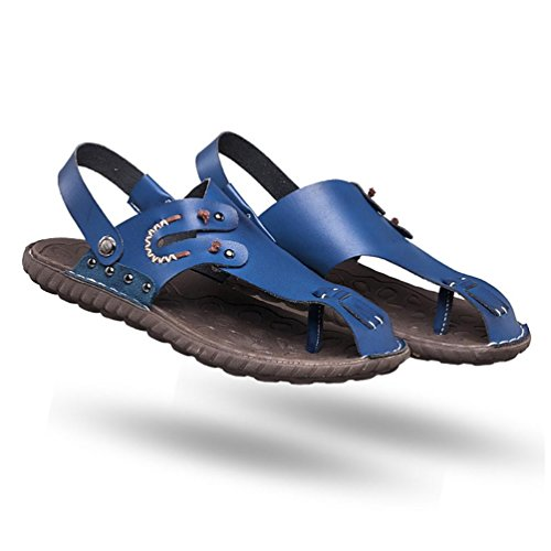 SHANGXIAN Der junge Seemann Komfort Fischer Sandalen Flip-flops(two kinds of tees) Blue